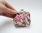Coin purse, Liberty print, multi colour floral, cotton purse