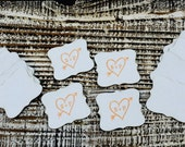 """30 Kraft Die Cut Wedding Tag Favors 2.5"""" x 2"""" custom shape labels ANY custom shapes and sizes available"""