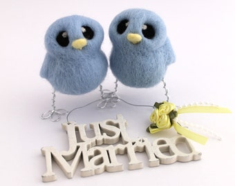 His 'n' His Wedding Cake Topper Gay Wedding Cake Topper Needle Felted Birds