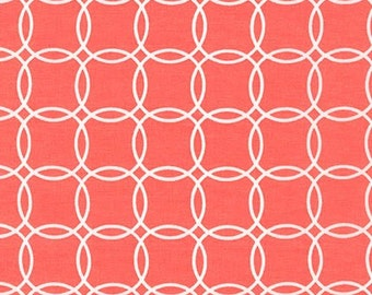 Sale fabric, 6 dollars a yard, Orange fabric, Coral fabric, Wedding fabric, Metro Living fabric, Bracelets in Orange- You Choose The Cut