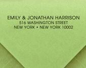 CUSTOM ADDRESS STAMP, Custom Rubber Stamp, Custom Self Inking Stamp, Custom stamp, Library Stamp, Business Address Stamp, Wedding Stamp 179