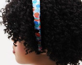 Headband, Natural Hair Headband, Hair Accessories, Hair Jewelry, Natural Hair, Hair Decor, Bubbles Colorful Polka Dot Headband