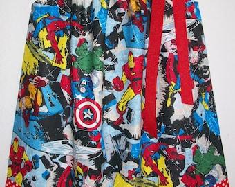 Pillowcase Dress Girls Dress Superhero Dress Avengers SMASH Hulk Spiderman Captain America Iron Man Thor baby dress toddler dress Girls Top