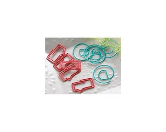 Bubble & @ Sign Paper Clips • New Year/New You Decorative Paper Clips (10/Pkg) Speech Bubble Paper Clips • @ Sign Paper Clip (PC014)
