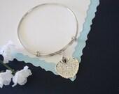 Silver Leaf Bangle, Real Leaf Bracelet, Silver Aspen, Sterling Silver, Leaf Bangle, Bracelet, Bridesmaid Gift, Gift, Aspen