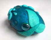Super SALE Decorated Mermaid Egg Polymer Clay and Glass