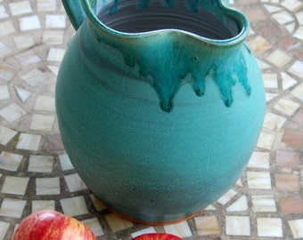 Half Gallon Pitcher in Turquoise - Made to Order