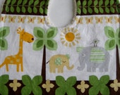 Giraffe Elephant Jungle Animal Bib