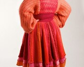 Sz. Large Mohair Sweater Coat/ Upcycled Bohemian Coat/ Coral /Fully Lined /brendaabdullah