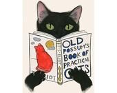 "Cat Print -  Cat Art - Cat Decor Old Possum's 4"" X 6"" print - 4 for 3 Sale"