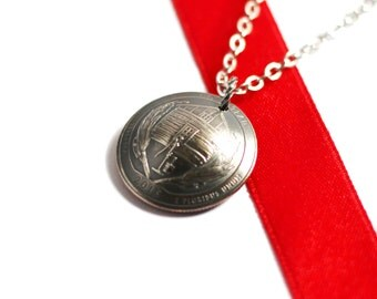 Quarter Coin Necklace, U.S. Quarter Dollar Pendant, Homestead, Nebraska, America the Beautiful, 2015 Jewelry Hendywood
