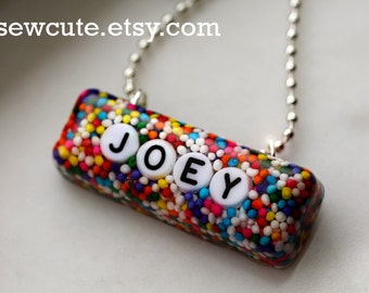 Your Name, Candy Necklace, the Original Personalized Custom Name Resin Sprinkles Pendant ... handmade by isewcute