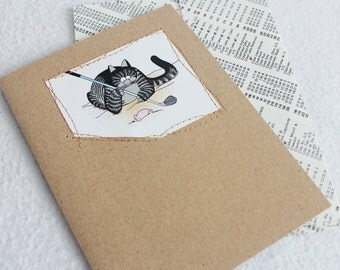 Cat Card / Blank Greeting Card by PrairiePeasant