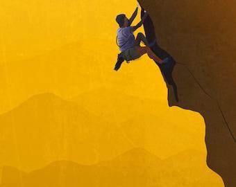 """Fine Art Print - """"Lead Climb"""" - 8x10"""