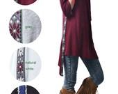 breeze - cold shoulder dress / zen asymmetrical cotton tunic dress / cold shoulder top (Q1506S)