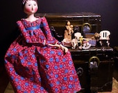 Handmade Regency Doll with Toy Dolls and Nursery