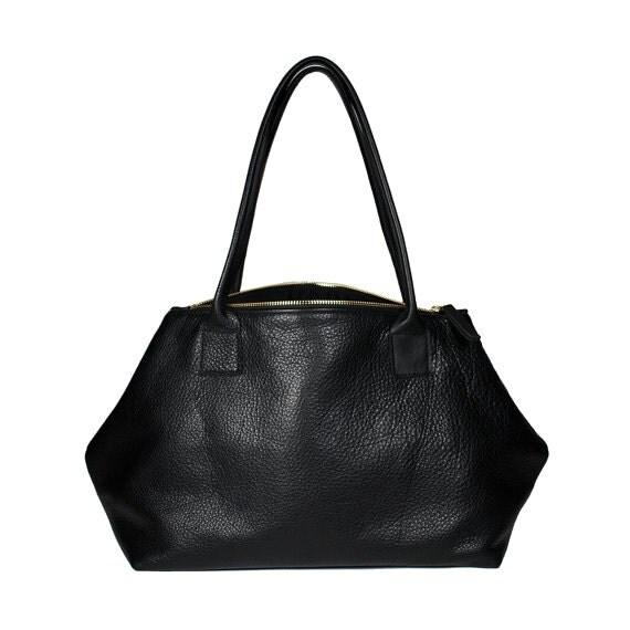 Modern roomy genuine leather Satchel Tote handbag shoulder bag