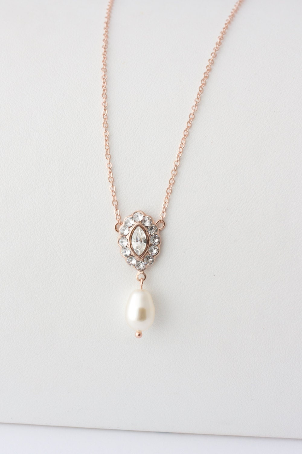 simple wedding jewelry gold pendant bridal necklace