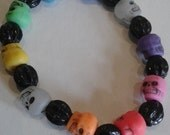 Rainbow Skull Bracelet - Day of the Dead 2015