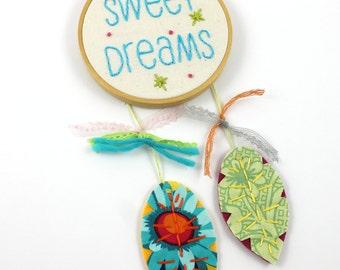 Dreamcatcher Sweet Dreams Feather Cute Mini Wall Hanging Nursery Art
