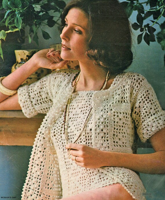 Free Crochet Patterns For Women s Shell Tops : Filet Crochet Pattern Womens Crochet Top Pattern Crochet