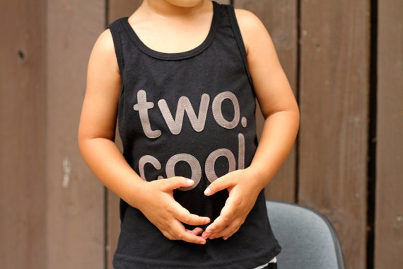 TWO. COOL. Baby Boy Toddler Boy two cool Tank Top