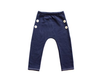 Woolen kids button pants 100% merino