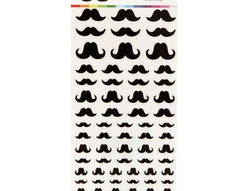 Mustache Stickers, Kawaii
