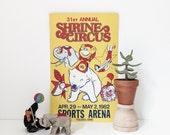 vintage shrine circus poster | 1982