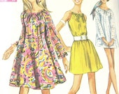 Vintage 1968 Dress - Mini Dress -Top Simplicity 7689