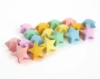 100 Origami Lucky Stars - Pastel Rainbow Colors