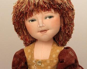Averill, 18-19 inch cloth doll E-PATTERN