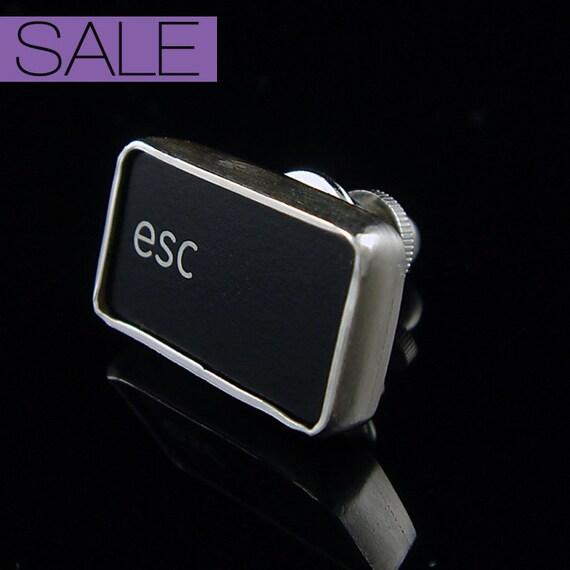 SALE - Computer Key Accessories - rePURPOSED Apple Mac Esc Key Tie Tack or Lapel Pin