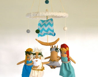 Greek Gods Baby Mobile ---  Modern Nursery ---  Made To Order