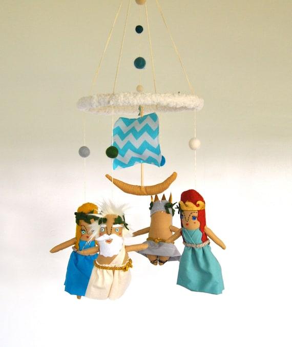Greek Gods Baby Mobile Modern Nursery Made To Order