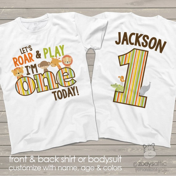 Zoo Jungle Theme First 1st Birthday Shirt Let S Roar