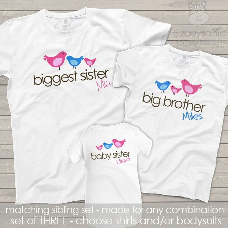 Matching Sibling Shirts Big Middle Little Sisters Or Brother
