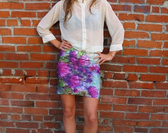 "the ""Sheila"" pencil skirt designed by Hannah Stone."