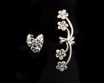 Flower Ear Cuff EAR CUFF SPECIAL Flower Ear Cuff Combo - Buy 2 Get 1 Ear Cuff Free - Flower Jewelry - Flower Earrings - Non-Pierced Earrings