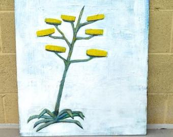 Southwest Decor, Abstract Desert Painting, Desert Bontanical, Agave Drawing, Cactus Painting, Southwest Art, Agave, Desert, Arizona Art
