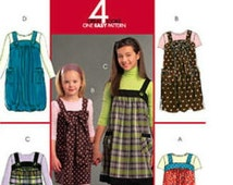 Girls Summer Jumper - Easy to Sew - McCalls 5694- UNCUT - Girls Sizes: 7 -8 -10 -12 -14