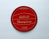 Vintage Basketball Patch, Letterman Jacket Patch, Vintage Sports Patch, Man Cave Decoration, Sports Bar Decoration