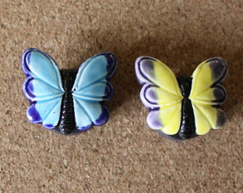 Ceramic Butterfly magnets, set of 2
