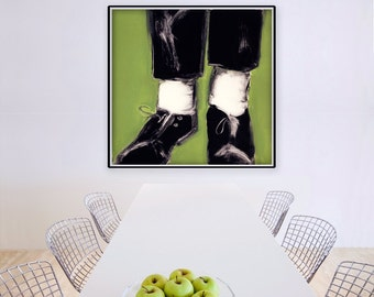 Square, Large Wall Art, Abstract Art Print, Modern Painting, Contemporary Art