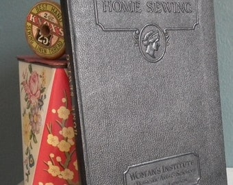 Home Sewing 20s 30s Woman's Institute of Domestic Arts & Sciences - vintage 1920s 1930s needlework book sewing dressmaking glossary