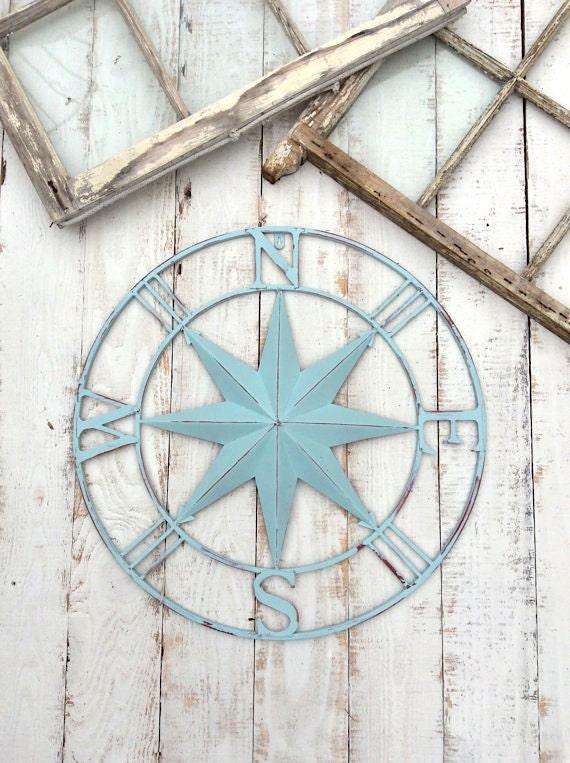 Vintage Compass Wall Decor : Nautical wall decor metal compass art