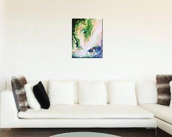 Tree Cave - original painting - so much light, beautiful