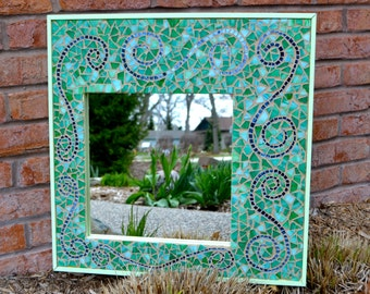Cottage Chic Mosaic Mirror