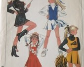 Cheerleader Outfit Pattern,Majorette Outfits Pattern,Simplicity 8782 Junior Teen Size 5,6,