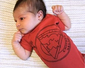 Chicago Style Pizza One Piece Baby Bodysuit -